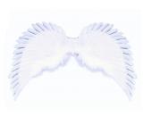 Anjelská kčídla biela trblietavá rozloženie je cca 63 cm