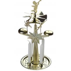 Anjelské zvonenie zlaté so 4 sviečkami 130 x 270 mm