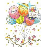Nekupto Dárková papírová taška střední 18 x 23 x 10 cm Happy Birthday to you 1729 02 KFM