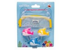 Pinkfong Baby Shark hračky na striekanie vody, kúpeľový set pre deti