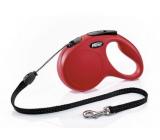 Flexi New Classic samonavíjacie vodítko S 5 m do 12 kg červená / lanko