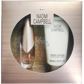 Naomi Campbell Naomi Campbell toaletná voda pre ženy 15 ml + telové mlieko 50 ml, darčeková sada
