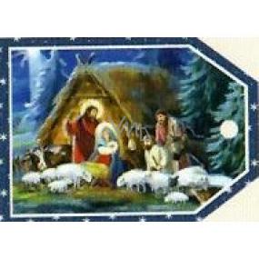 Nekupto Vianočné kartičky na darčeky Betlehem 5,5 x 7,5 cm 6 kusov
