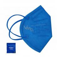 Healfabric Respirátor ústnej ochranný 5-vrstvový FFP2 tvárová maska modrá medium 1 kus