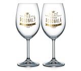 Nekupto Párové poháre na víno Pán dokonalý a Pani dokonalá 2 x 440 ml