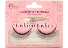 Absolute Cosmetics Fashion Lashes Umelé nalepovacie riasy stredne dlhé obloučkové čierne s lepidlom 507 čierne 1 pár