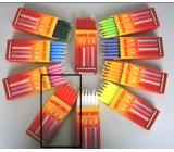 Dortové svíčky Oranžová 95 x 8 mm 12 ks