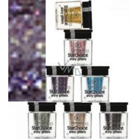 Dermacol Star Choice Shiny Glitters Trblietky na oči Odtieň 4 fialová 2 g