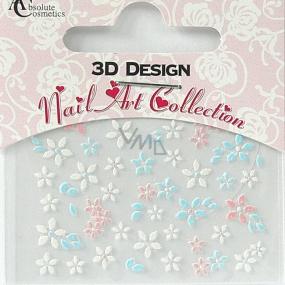 Absolute Cosmetics Nail Art 3D nálepky na nechty 24920 1 aršík