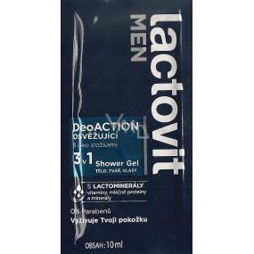 DÁREK Lactovit Men Deo Action osvěžující sprchový gel na tělo, tvář a vlasy 10 ml