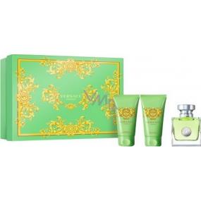 Versace Versense toaletní voda pro ženy 50 ml + tělové mléko 50 ml + sprchový gel 50 ml, dárková sada