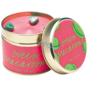 Bomb Cosmetics Zelené makaróny Vonná prírodné, ručne vyrobená sviečka v plechovej dóze horí až 35 hodín