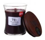 Woodwick Black Cherry - Čierna čerešňa vonná sviečka s dreveným knôtom a viečkom sklo malá 85 g