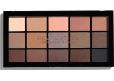 Makeup Revolution Re-Loaded paletka očných tieňov Basic Mattes 15 x 1,1 g