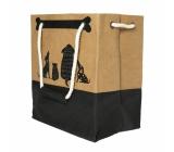 Albi Eko taška vyrobené z pratelného papiera s uchom - psíkovia 30 cm x 34 cm x 18 cm