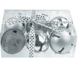 Rolničky stříbrné 6 x 5 cm v dárkové krabičce s mašlí