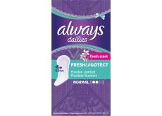 Always Dailies Fresh & Protect Fresh Scent Normal s jemnou vôňou slipové intímne vložky 30 kusov