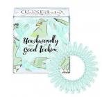 Invisibobble Original Circus Collection Hawkwardly originální vlasové gumičky čiré se světle zeleným proužkem jestřáb 3 kusy