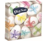 Big Soft Veľkonočné papierové obrúsky vajíčka s farebnou stužkou 33 x 33 cm 2 vrstvové 20 kusov