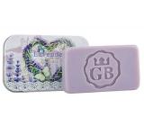 Bohemia Gifts Ručne vyrábané toaletné mydlo s glycerínom v plechovej krabičke Srdce - Levanduľa 80 g