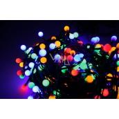 Emos Osvetlenie vianočné farebné guľôčky 30 m-300 LED + 5 m prívodný kábel