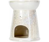 Heart & Home Aromalampa Bodky veľká biela 12,5 cm