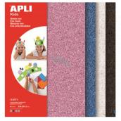 Apli Penovka s trblietkami (ružová, modrá, strieborná, čierna) 210 x 297 x 2 mm A4 4 listy