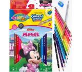 Colorino Pastelky trojhranné Disney Minnie 13 farieb