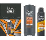 Dove Men + Care Fitnes sportcar 3v1 Endurance sprchový gél 250 ml + Sport antiperspirant sprej 150 ml, kozmetická sada pre mužov