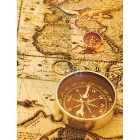 Nekupto Darčeková papierová taška 23 x 18 x 10 cm Kompas 1 kus 756 01 BM