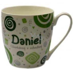 Nekupto Twister hrnek se jménem Daniel zelený 0,4 litru
