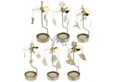 Andělské zvonění mosaz na čajovou svíčku 65 x 160 mm