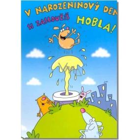 Albi Hracie prianie do obálky K narodeninám Narodeninovú deň si zaslúži zajtra mám Ready Kirken 14,8 x 21 cm