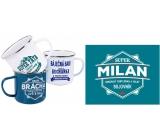 Albi Plechový hrnček s menom Milan 250 ml