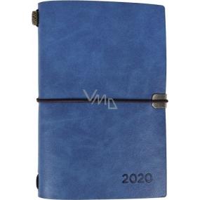 Albi Diár 2020 týždenný luxusné Modrý 17,8 x 12 x 1,5 cm