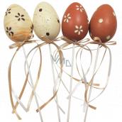 Vajíčko plastové zápich 6 cm + špajle rôzne farby 1 kus