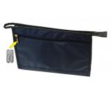 Natalia Angers Kozmetická kabelka na zips veľká modrá 32 x 20 x 9 cm NA01