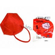 Famex Respirátor ústnej ochranný 5-vrstvový FFP2 tvárová maska červená 1 kus