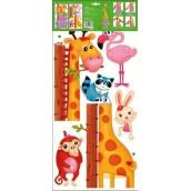 Room Decor Samolepky na stenu strom zvieratka v zoo žirafa 70 x 33 cm 1 arch