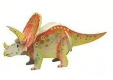 Puzzle drevené dinosaury 4 Triceraptos 20 x 15 cm