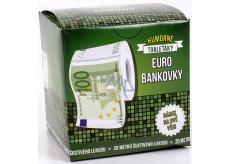 Albi Vtipný toaleťák jako Euro bankovka, 20 metrů šustivého luxusu, Dárkový toaletní papír