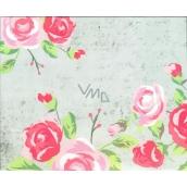Nekupto Buď Jedinečná dárková papírová taška střední 17,5 x 23 x 10 cm květy