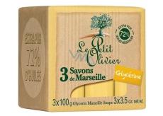 Le Petit Olivier Glycerín Mairseillské mydlo 3 x 100 g