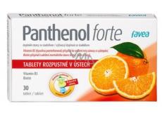 Favea Panthenol forte zmierňuje zápaly horných dýchacích ciest, regeneruje 30 tabliet
