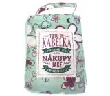 Albi Skladacia taška na zips do kabelky s nápisom Nákupy rozmer: 42 cm × 41 cm × 11 cm