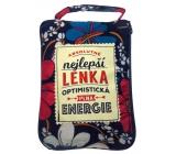 Albi Skladacia taška na zips do kabelky s menom Lenka 42 x 41 x 11 cm