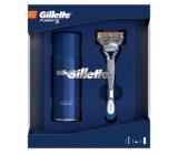 Gillette Fusion5 holiaci strojček + náhradné hlavice 1 kus + gél na holenie 75 ml, kozmetická sada