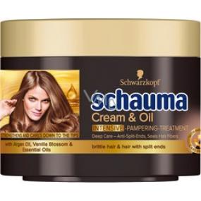 Schauma Cream & Oil intenzívna starajúca vlasová maska 200 ml