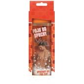 Bohemia Gifts & Cosmetics Pojď do sprchy jemný sprchový gel s originální 3D etiketou a s hedvábnými proteiny, vodní meloun a hroznové víno pro ženu v krabičce oranžový 300 ml