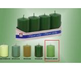 Lima Sviečka hladká valec listová zelená 40 x 70 mm 4 kusy